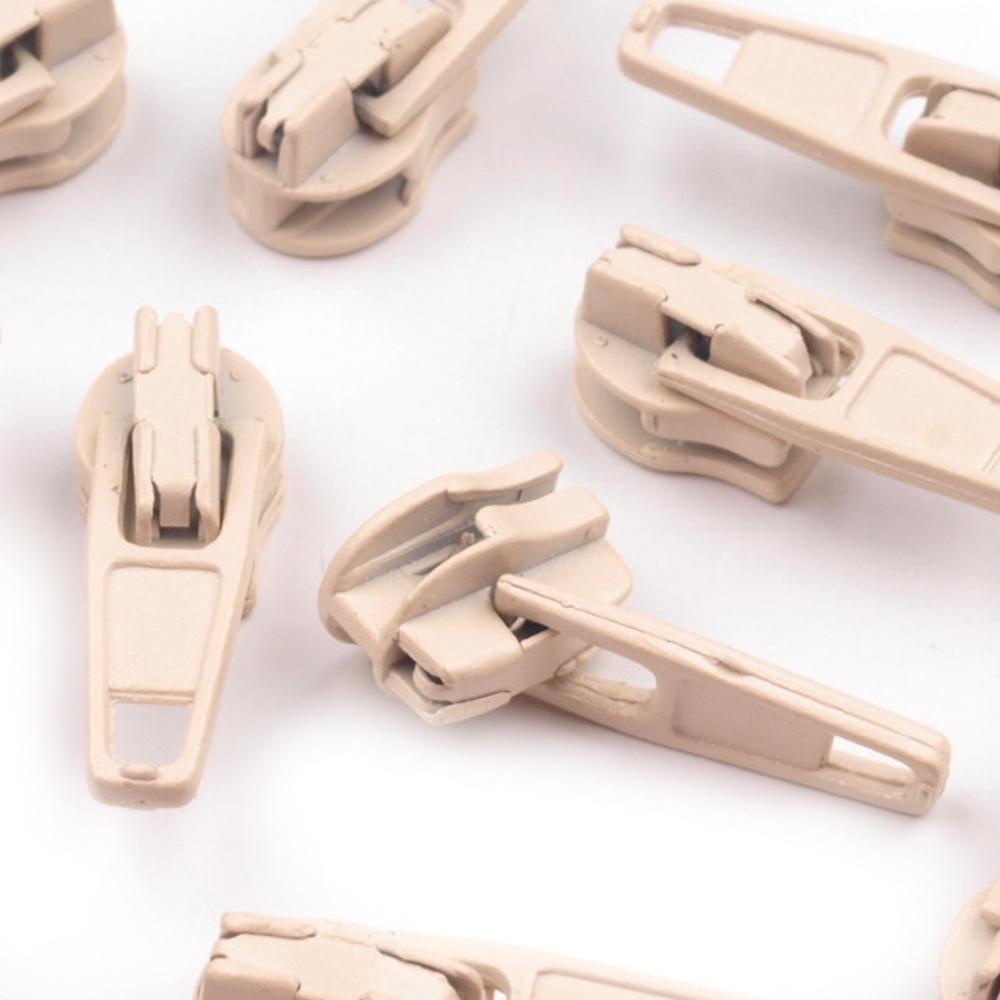 10 Zipper - 3mm - mit Arretierung - Biscotti (306)