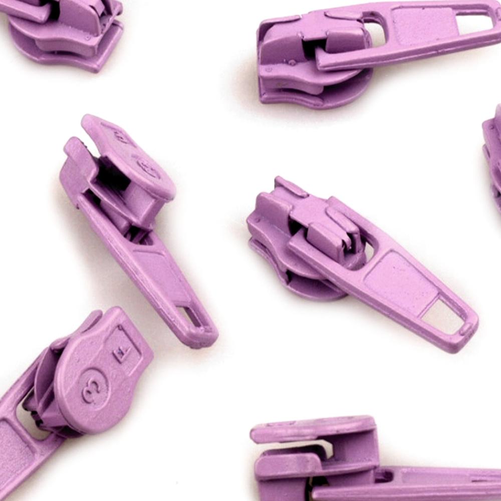 10 Zipper - 3mm - mit Arretierung - Lupine (166)