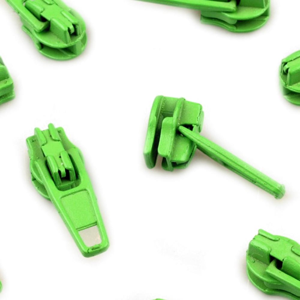 10 Zipper - 3mm - mit Arretierung - Jasmin Green (237)
