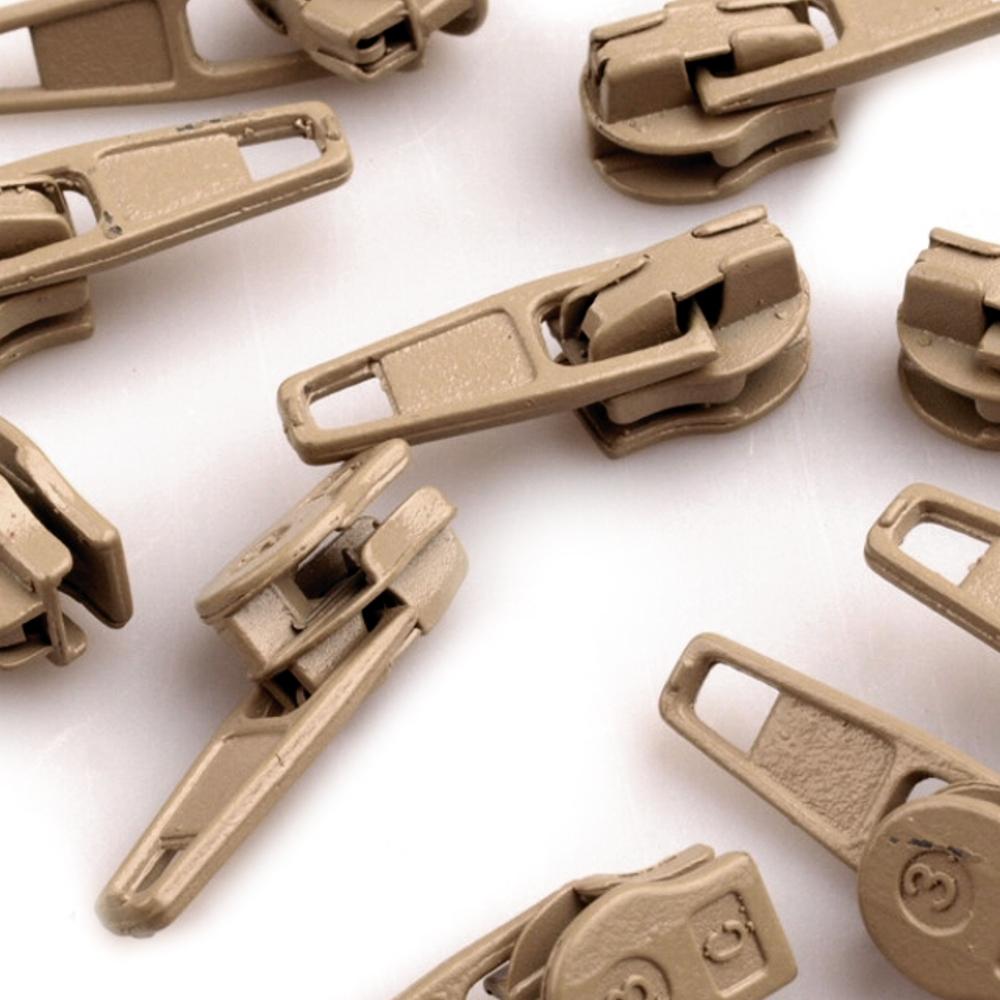 10 Zipper - 3mm - mit Arretierung - Lark (309)