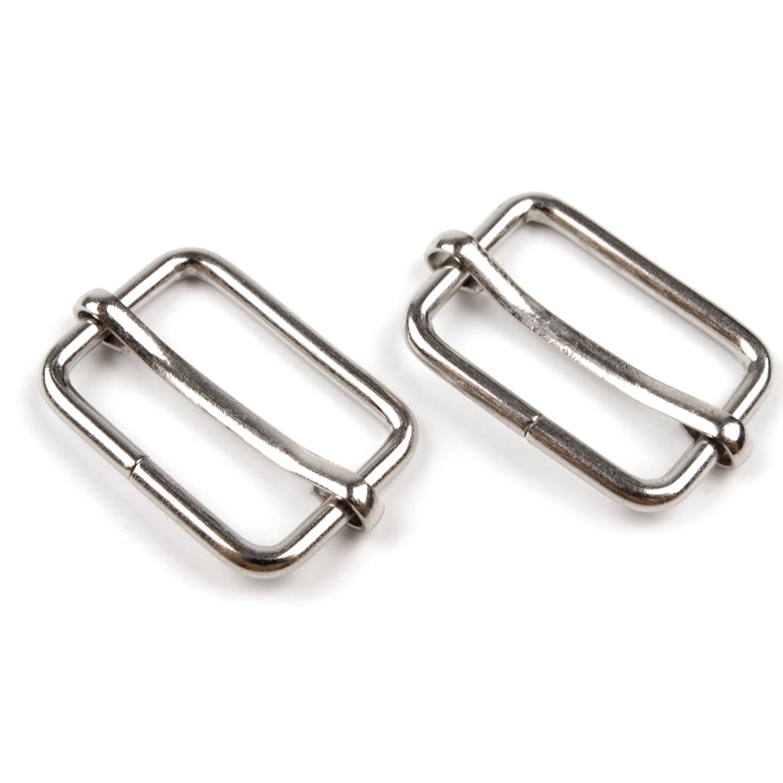 5x Durchzug mit Verkürzer - 13x20 mm - Silber