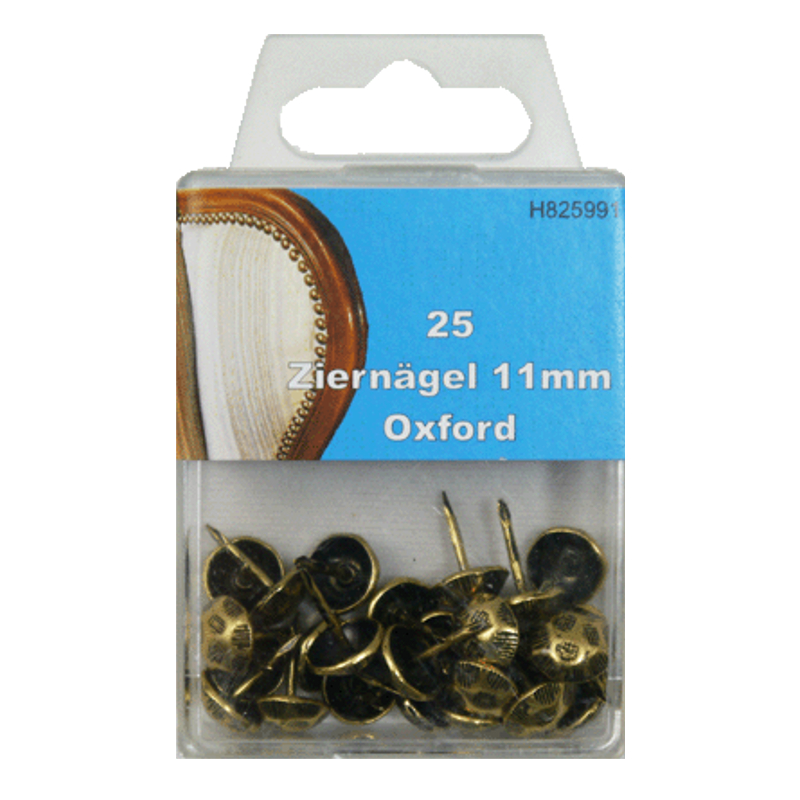 25 Ziernägel - Polsternägel - 11mm - Oxford