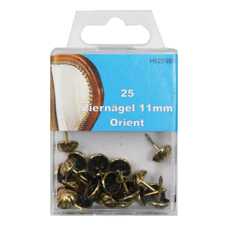 25 Ziernägel - Polsternägel - 11mm - Orient