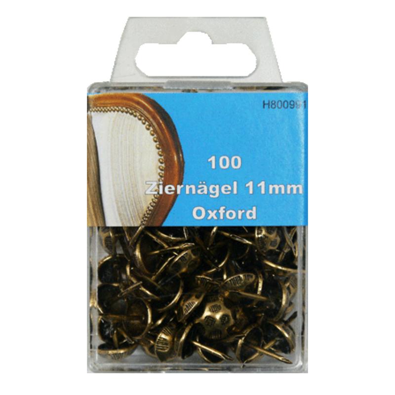 100 Ziernägel - Polsternägel - 11mm - Oxford