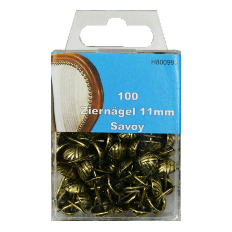 100 Ziernägel - Polsternägel - 11mm - Savoy
