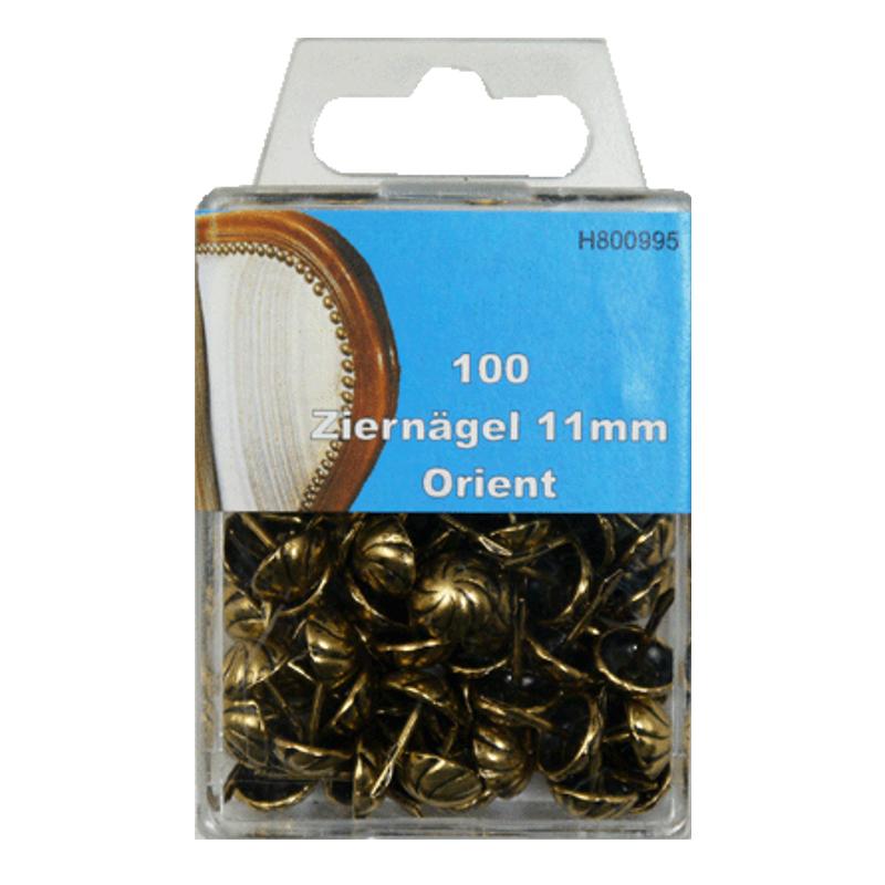 100 Ziernägel - Polsternägel - 11mm - Orient