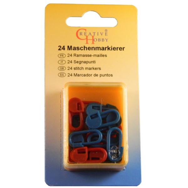 24 Maschenmarkierer - Rot & Blau