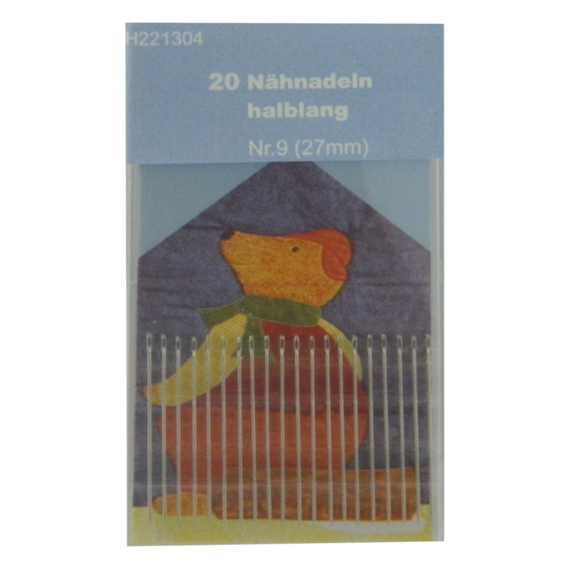 20 Nähnadeln - halblang - Nr. 9
