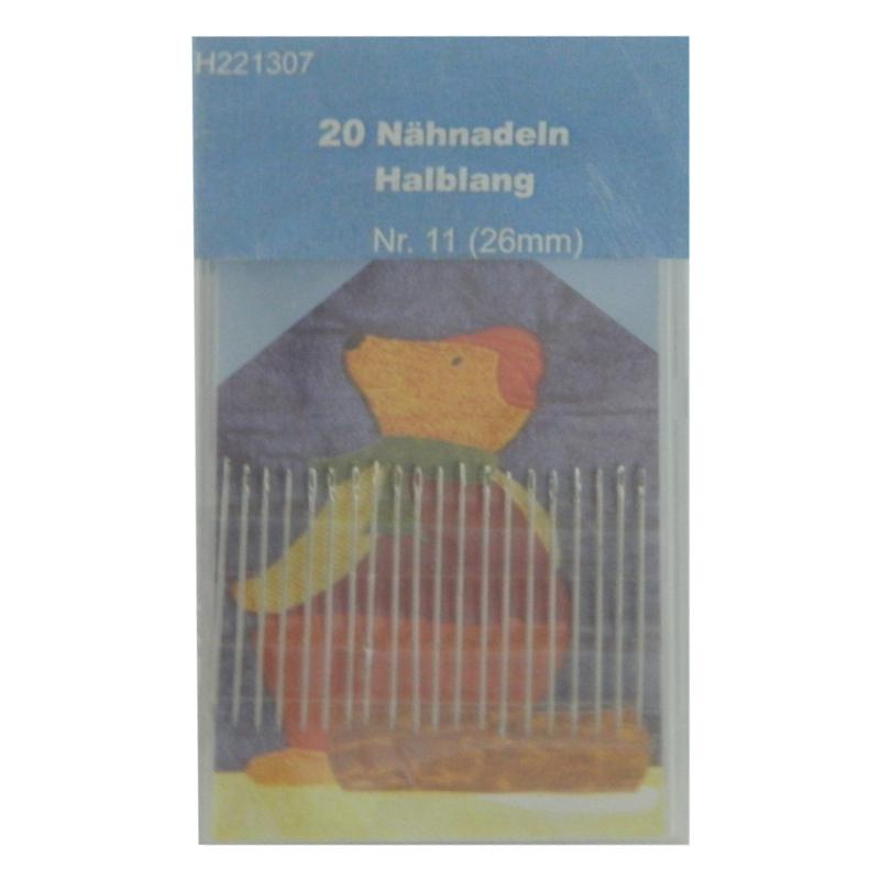 20 Nähnadeln - halblang - Nr. 11