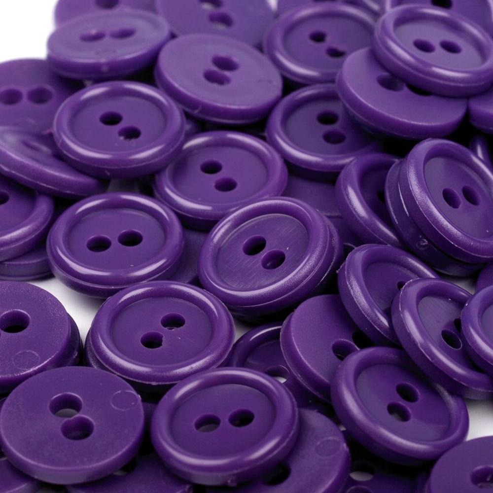 "10 Hemdknöpfe - 18"" - Violett (170)"