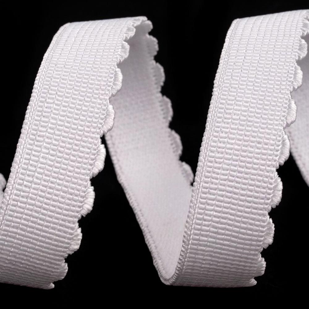 BH-Trägergummiband - 15mm - Weiß