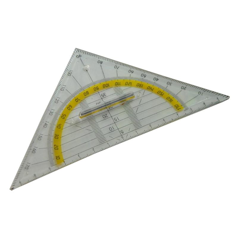 10x Geometrie-Dreieck (klein) - 16cm - MIT GRIFF