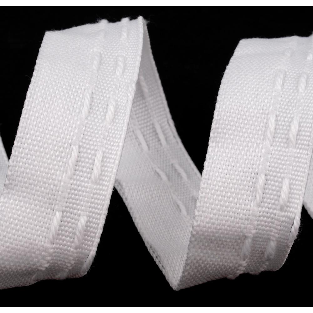 Kräuselband - Gardinenband - 20mm - Weiß