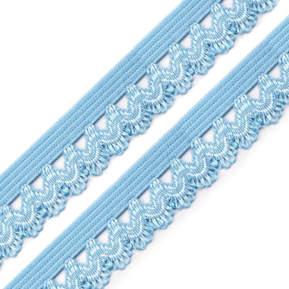 Rüschengummi - 15mm - Baby Blue (3)
